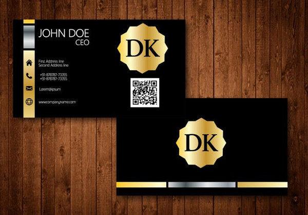 Golden Vintage Business Card Design Free Download
