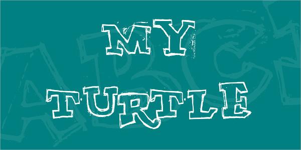 Graffiti Turtle Font Free