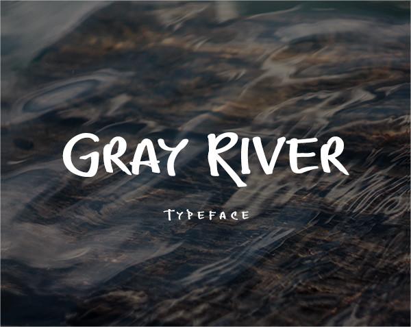 Gray River Font in Graffiti Style