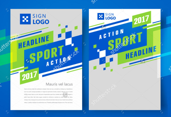 Green Sports Action Brochure Design