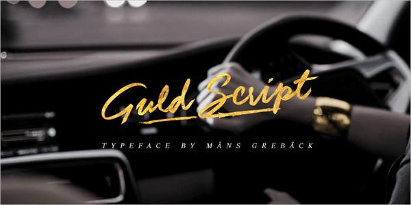 Free Guld Script Font