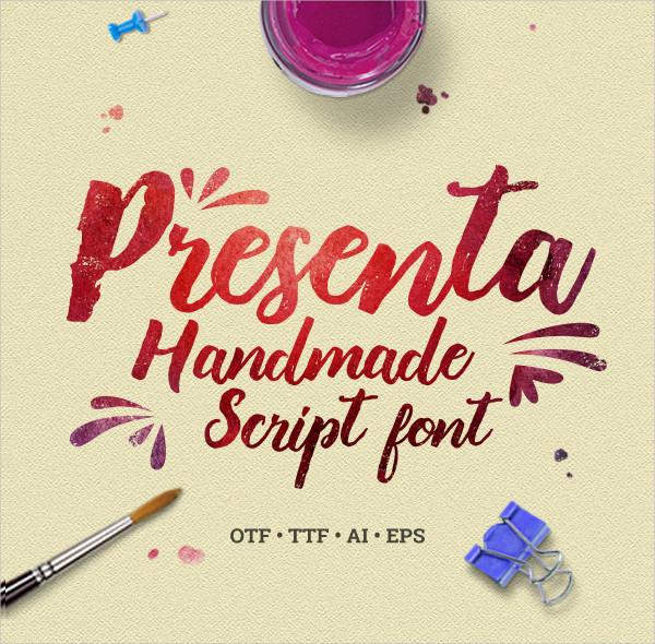 Presenta Handmade Script Font
