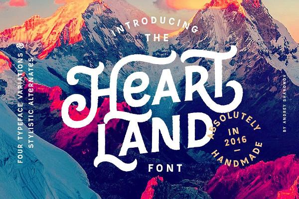 Vintage Heartland Font