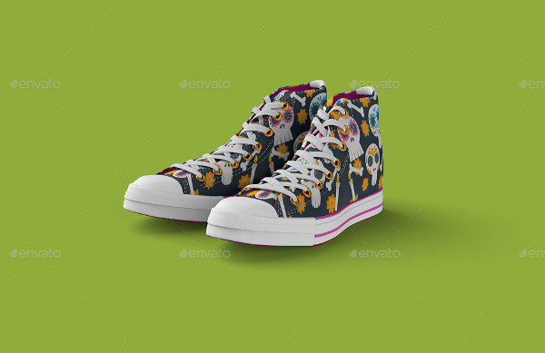 Hipster Sneakers Shoes Mock-Up