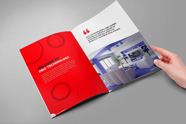 Home Technology Brochure Template