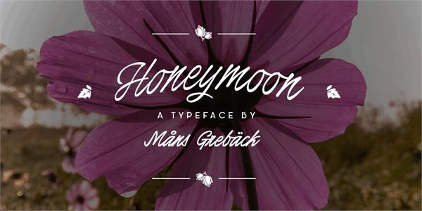 Honeymoon Personal Use Font Free