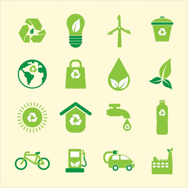Free Green Environmental Icons Collection