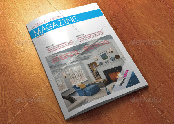 Unique Interior Designer Magazine Template