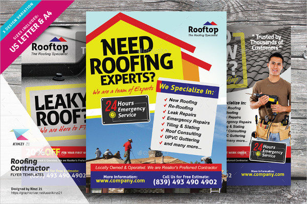 House Repair Business Contractor Flyer