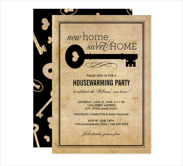 Housewarming Party New Home Sweet Home Card