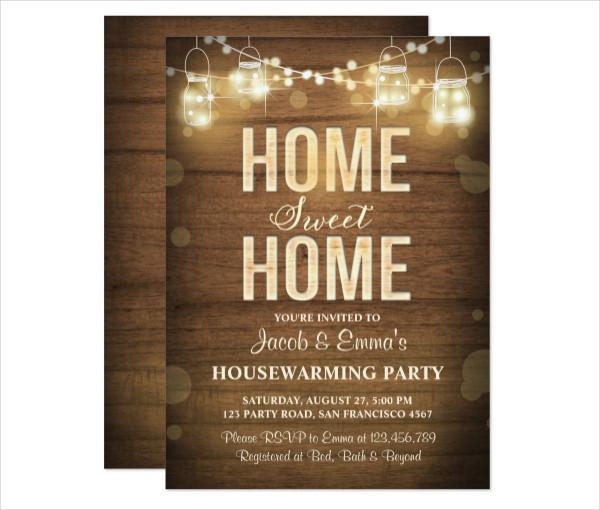 Rustic Housewarming Invitation Template