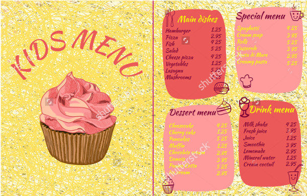 Ice Cream Colorful Menu Template