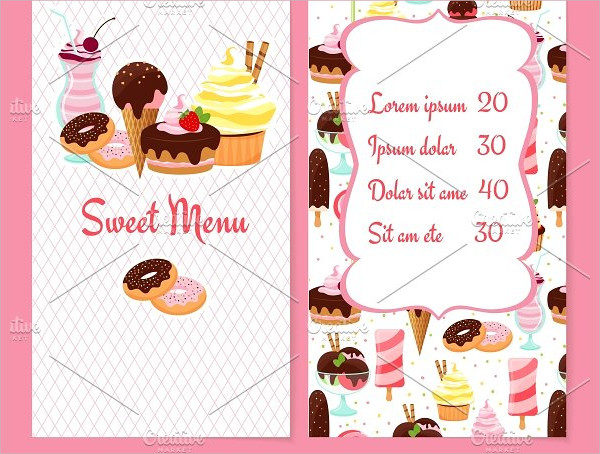 Dessert Ice Cream Menu Template
