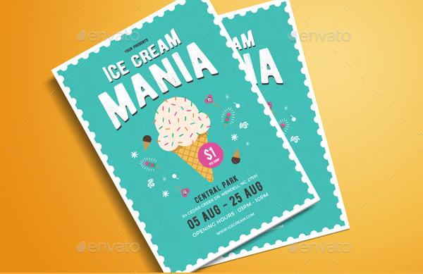 Ice Cream Mania Flyer Template