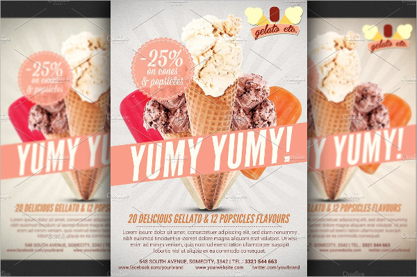 Ice Cream Shop Offer Flyer Template