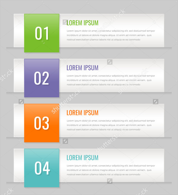 Vector Elements with Infographic Banners & Number