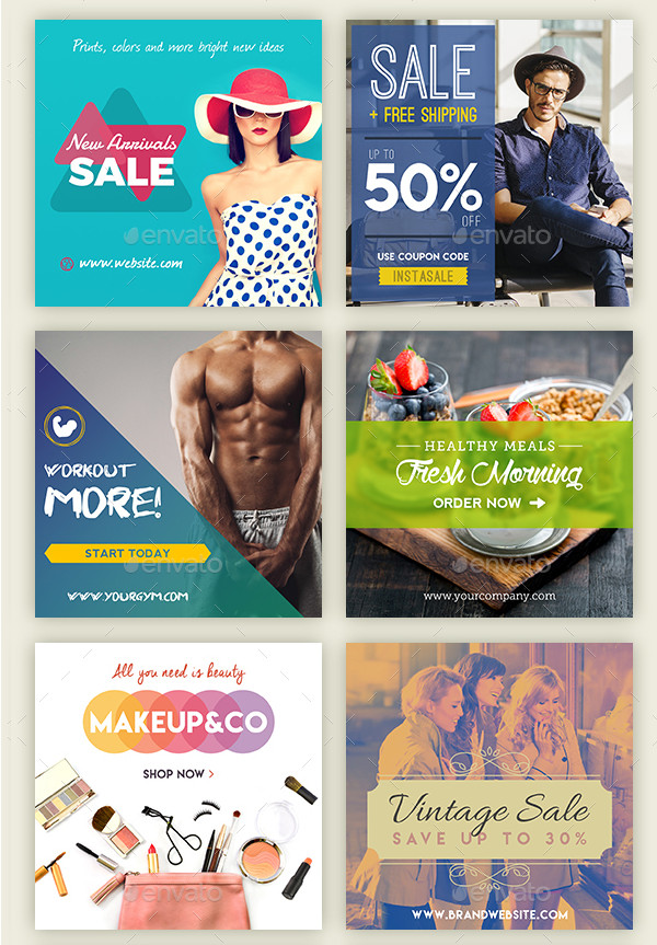 Modern Business Banners for Instagram