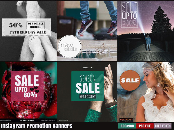 6 Instagram Graphic Banners Free