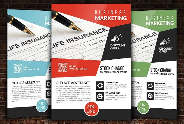 Insurance Company Marketing Flyer Template
