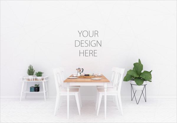 Interior Design Mockup to Display your Artwork