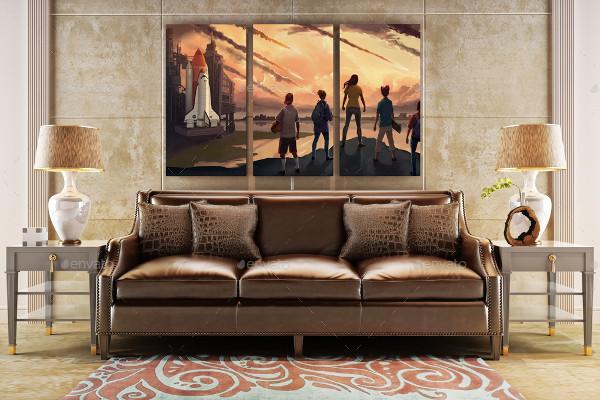 Interior Wall Poster Mockup Set