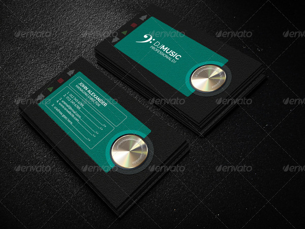 Funky Musician Business Card Template