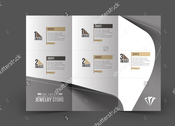 Jewelry Store Trifold Brochure Mockup