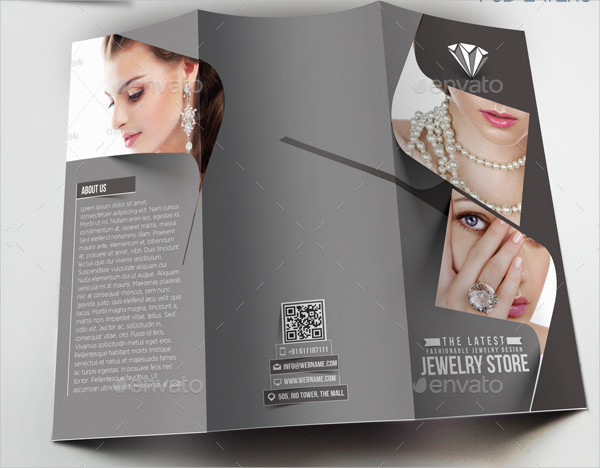 Jewelry Store Trifold Brochure Template