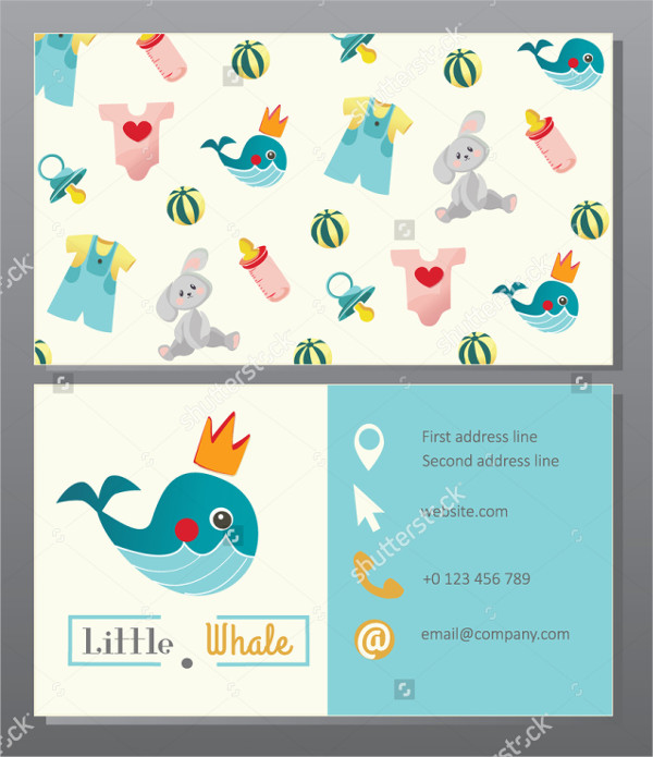 new born baby clothes store business card