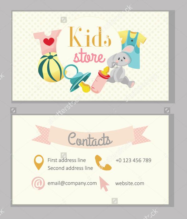 kindergarten kids business cards - Kids Business Cards
