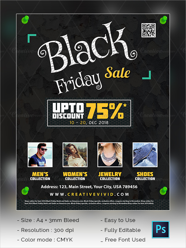 Latest Black Friday Sale Flyer Template