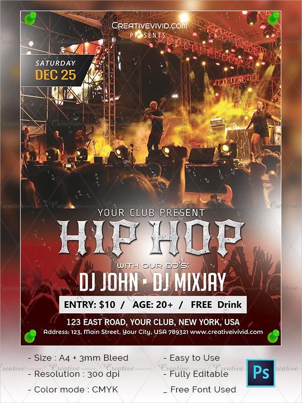 25 Hip Hop Flyer Templates Free Premium Download