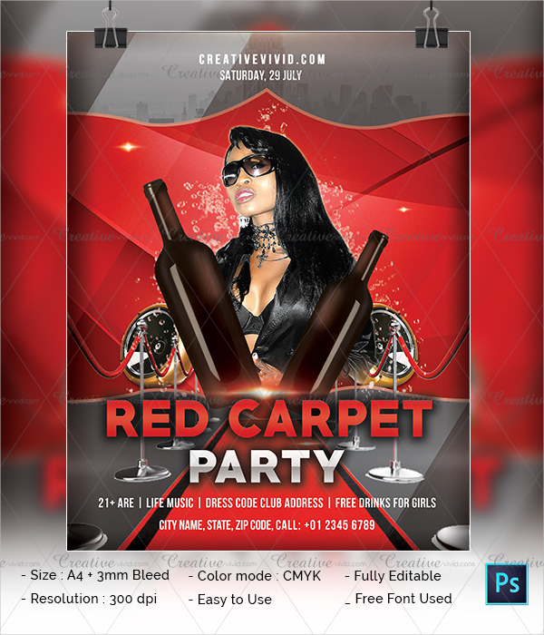 Latest Red Carpet Party Flyer Download