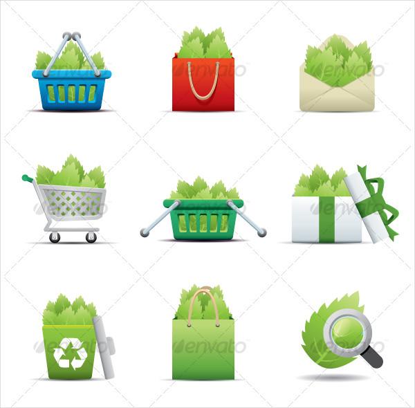 Leaf Saving Eco Icon Set