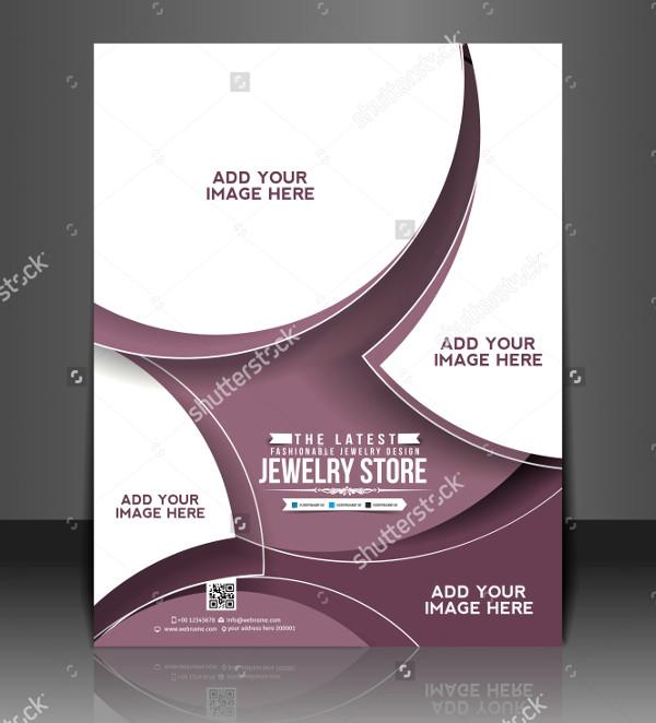 Vector Jewelry Store Brochure