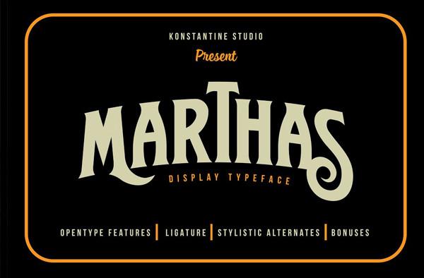 Marthas Vintage Branding font