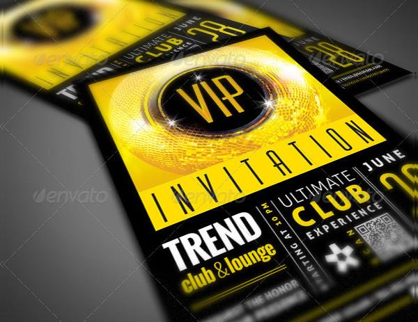 Membership VIP Club Event Invitation Template