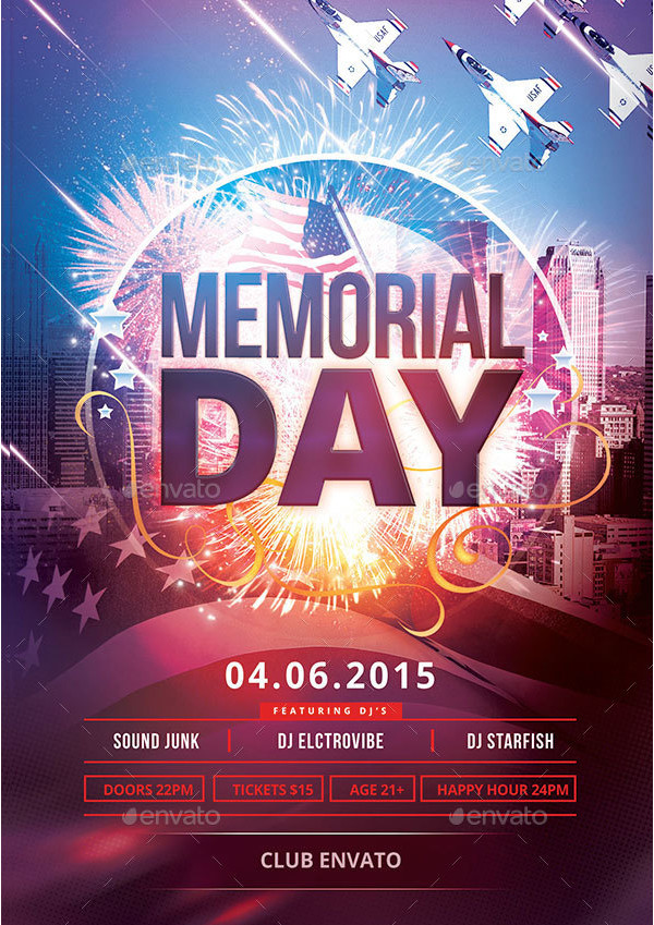 Memorial Day Promotion Flyer Template