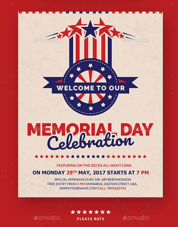 Perfect Memorial Day Celebration Flyer