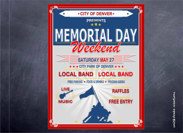 Memorial Day Weekend Celebration Holiday Flyer