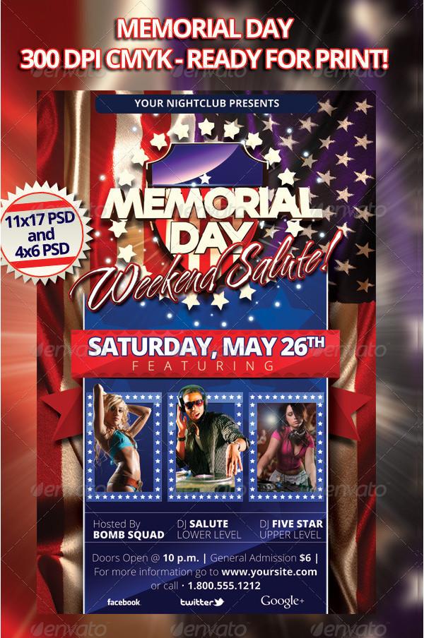 Memorial Day Weekend Salute Flyer