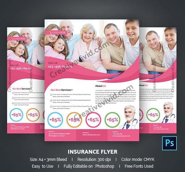 Modern Family Insurance Flyer Template