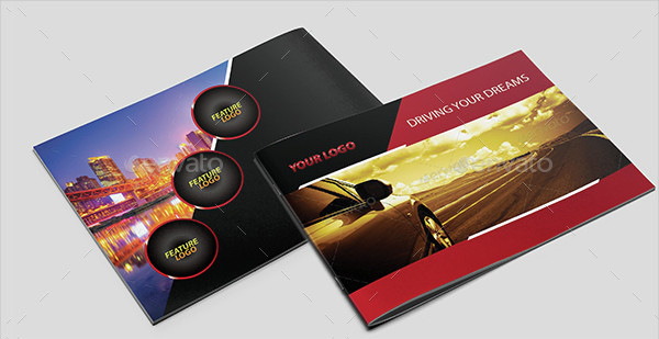 Modern Car Landscape Brochure Template