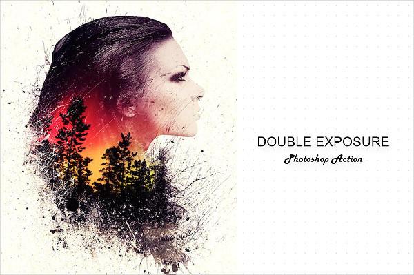 Modern Double Exposure Photoshop Action