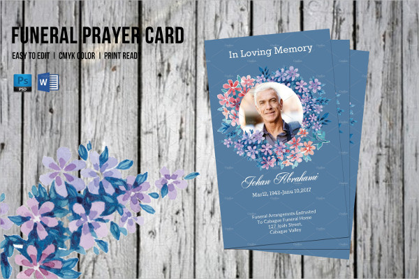 Funeral Prayer Card Template 21 Psd Ai Eps Format Download