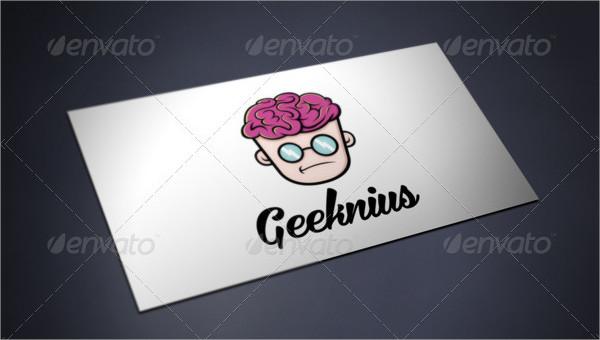Geek Genius Colorful Logo Template