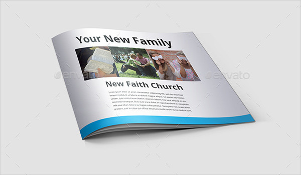 Modern Minimal Brochure for Church