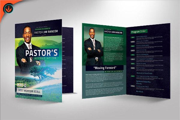 Modern Pastors Appreciation Program Template