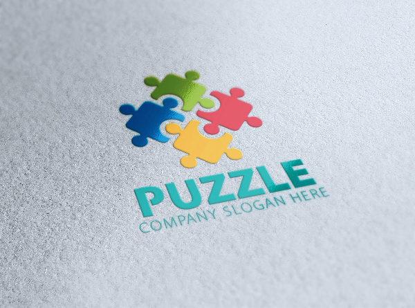 Modern Puzzle Logo Design