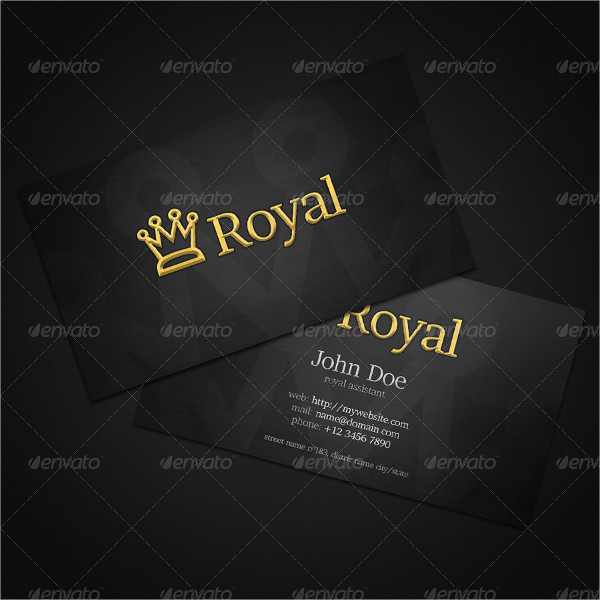 Unique Royal Business Card